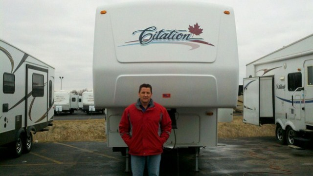 Bryan of Lake Isabella with their Freedom Express 22DSX