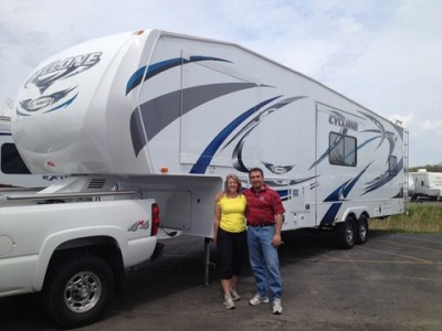 Michelle of Whitmore Lake with their Cyclone 3712CK