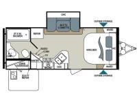 2017 Aerolite Luxury Class 213RBSL Floor Plan