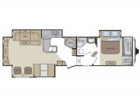 2011 Cougar 327RES Floor Plan