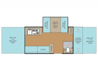 2012 Clipper 1285SST Floor Plan