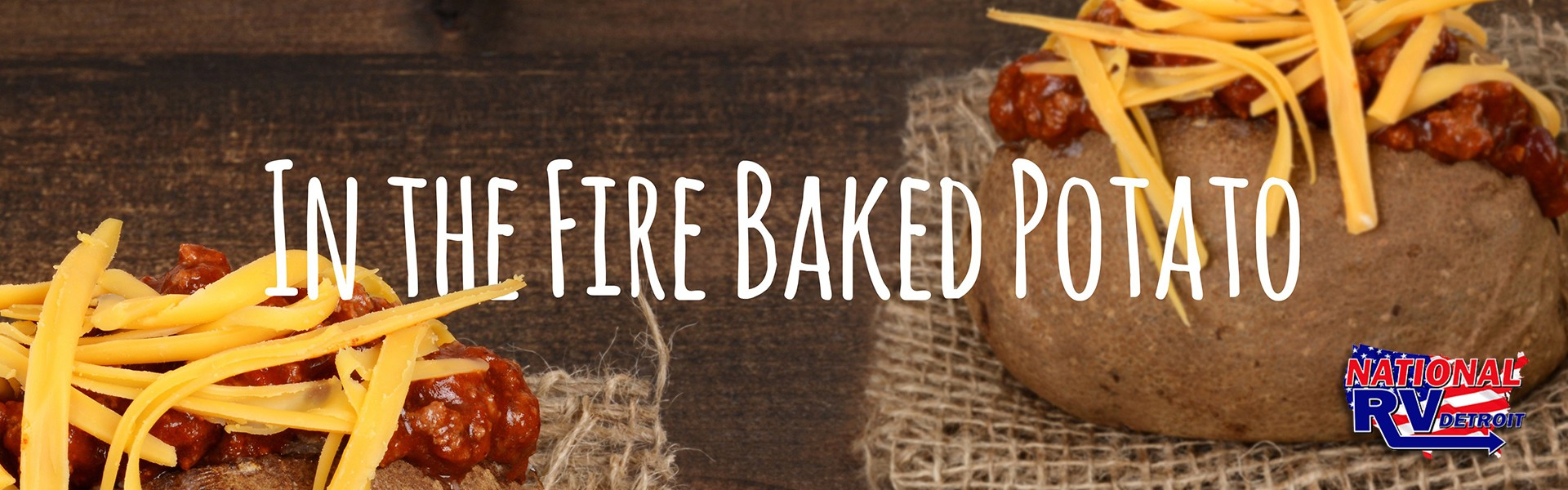 In the fire baked potato banner