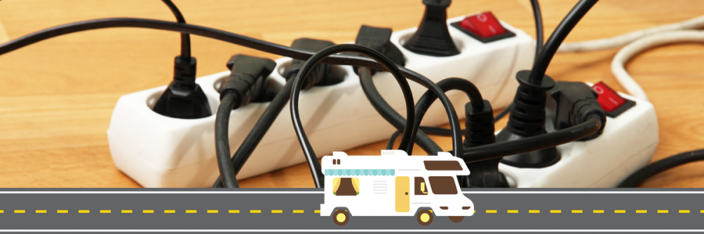a mess of cords for RV campers