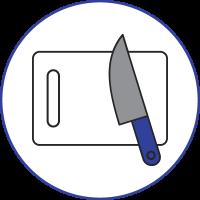 kitchen-supplies-cutting-board-knife