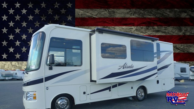 Rv slide out american flag