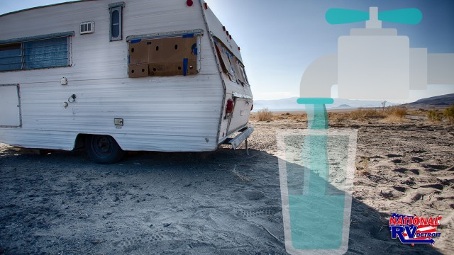 Water saving tips for vintage trailer dry camping in desert