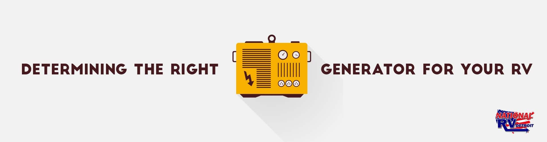 determining the right generator for your rv