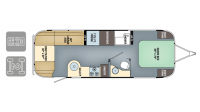 2018 Airstream Flying Cloud 27FB Floor Plan