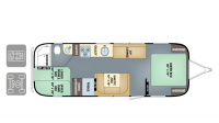 2018 Airstream Flying Cloud 30FB BUNK Floor Plan