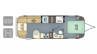 2018 Airstream International Serenity 27FB Floor Plan