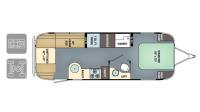2018 Airstream International Serenity 27FB Floor Plan