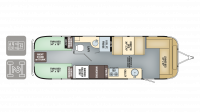 2018 Airstream International Serenity 30 TWIN Floor Plan