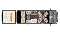 2017 Airstream Interstate EXT LOUNGE Floor Plan