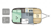 2018 Airstream Sport 16RB Floor Plan