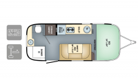 2018 Airstream Sport 22FB Floor Plan