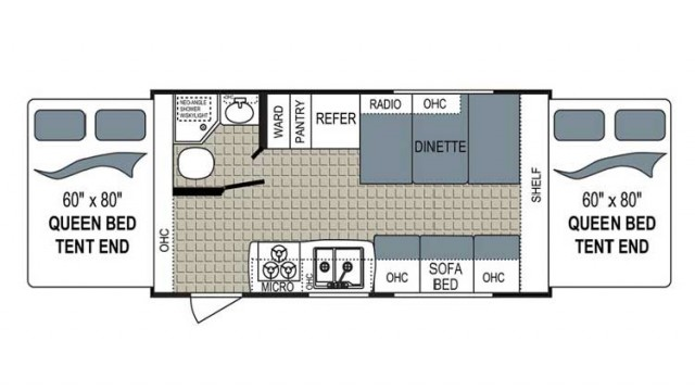 2018 Kodiak Ultra Lite 186E Floor Plan