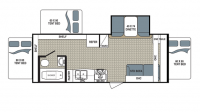 2017 Kodiak Ultra Lite 222ES Floor Plan