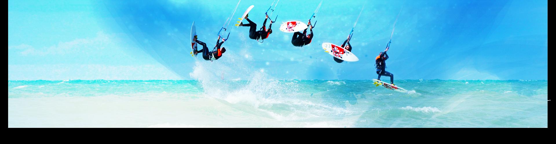 kitesurfing in slowmotion