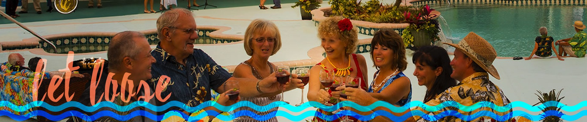 let loose - adults cheers and drinking at Cross Creek RV Resort