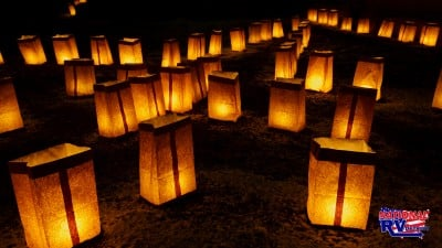 Paper Lanterns at night