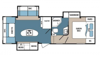 2017 Denali 257RDS Floor Plan