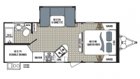 2017 Kodiak Ultra Lite 243BHSL Floor Plan