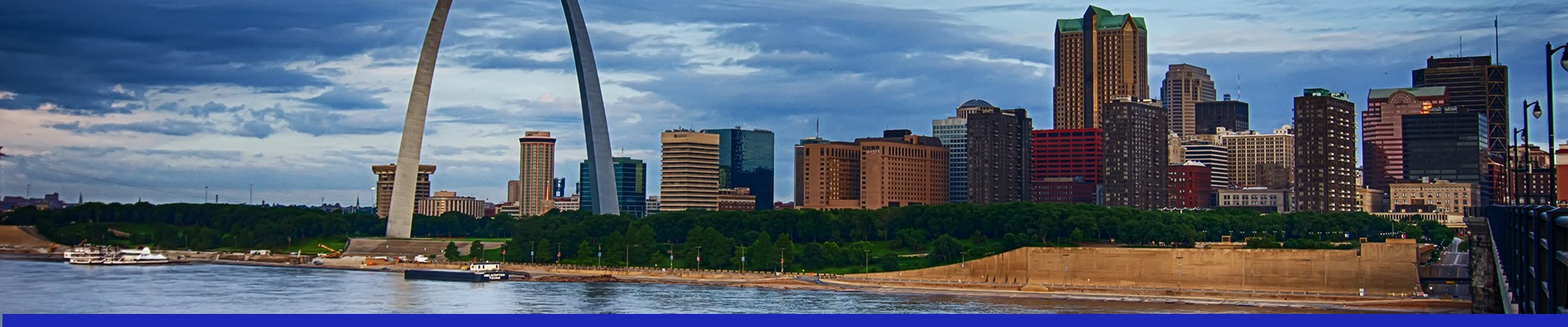 Explore the surrounding areas of Elephant Rocks State Park, like Downtown St. Louis.