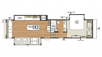 2017 RiverStone 37RL Floor Plan