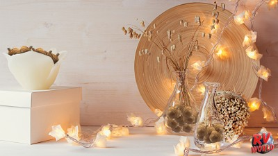 Fall home decor using acorns