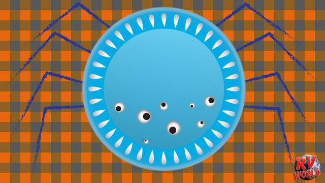 Halloween craft: Paper plate spiders