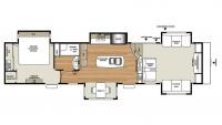 2019 RiverStone 39FL Floor Plan