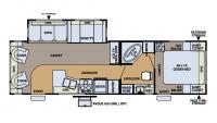 2007 Flagstaff Classic Super Lite 831RLSS Floor Plan