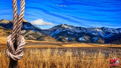 View of the mountains in Montana.