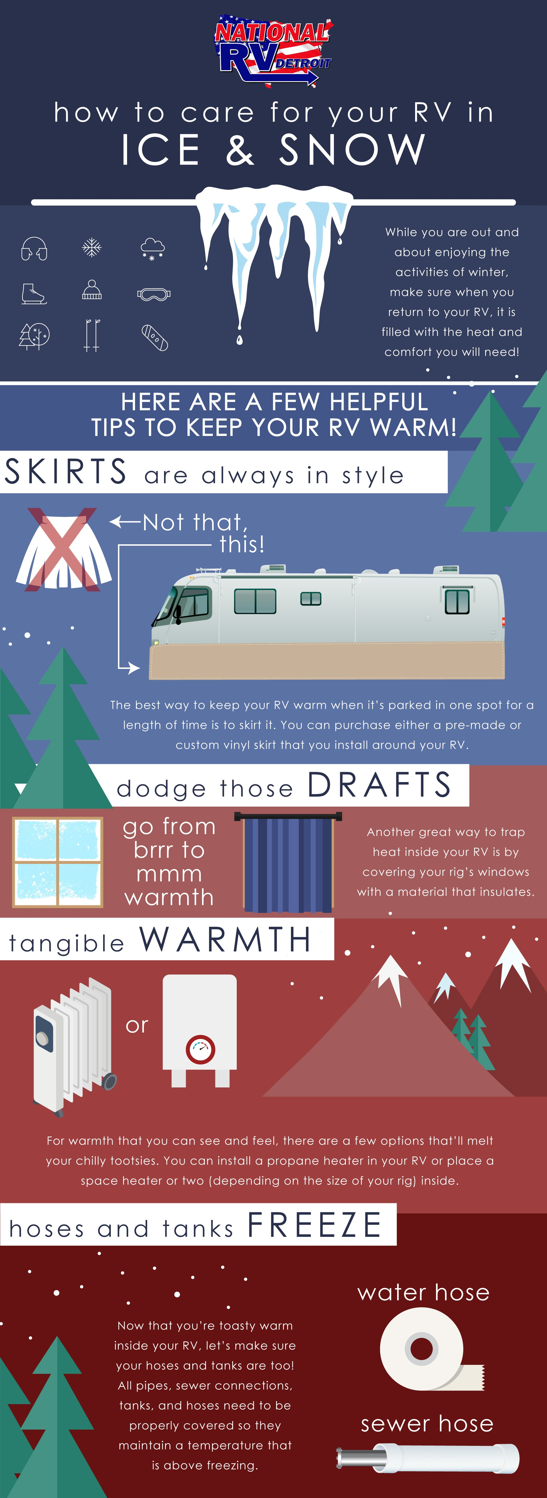 ice and snow infographic