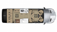 2018 Airstream Tommy Bahama Interstate EXT LOUNGE Floor Plan