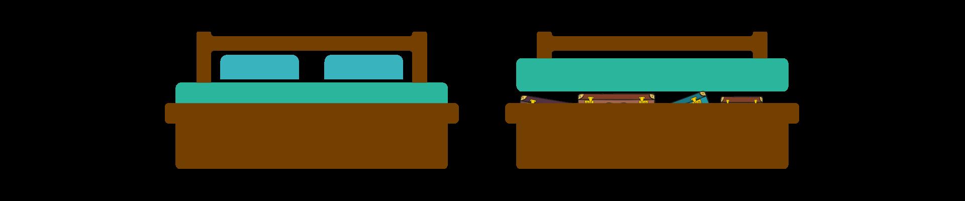 Under-bed storage in your RV