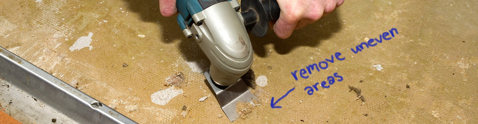 Precautions to take before laying down new flooring.