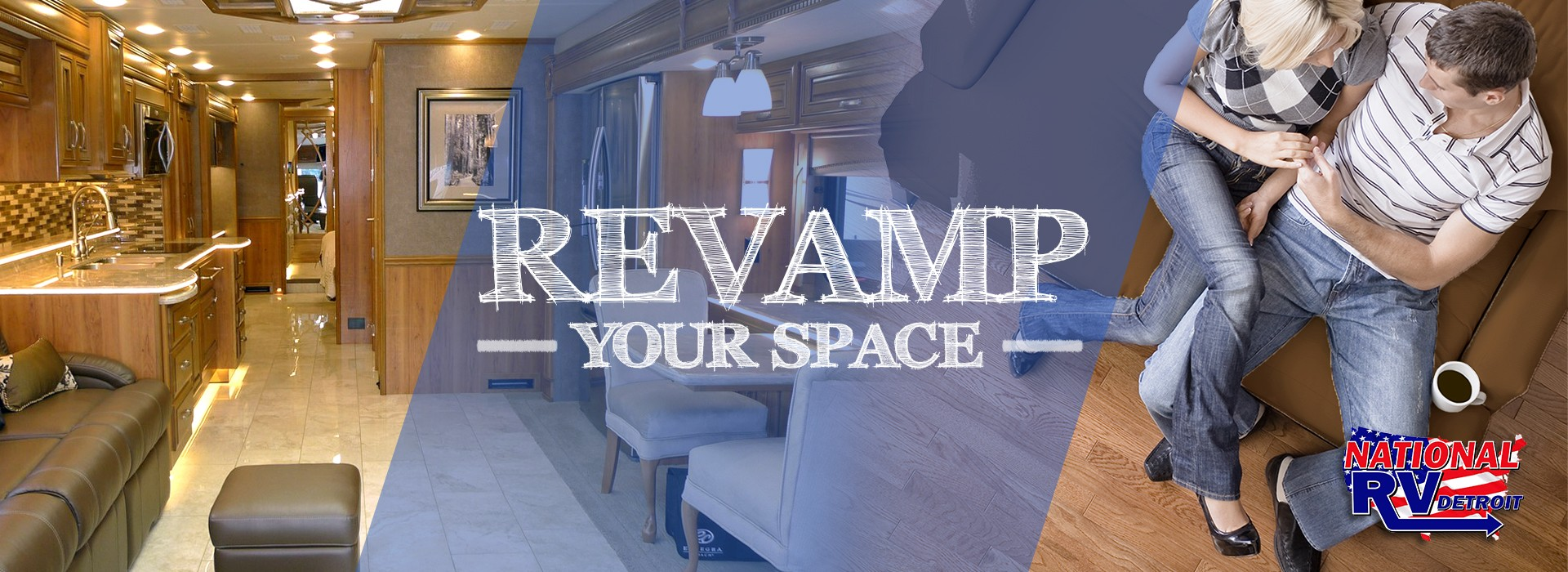 Revamp your space! Replace your RV flooring with peel and stick wood floors.