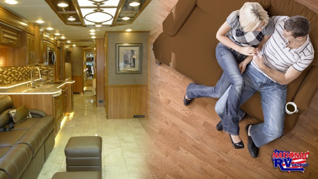 Replace your RV flooring with peel and stick wood floors!