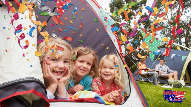 Camping themed bday party