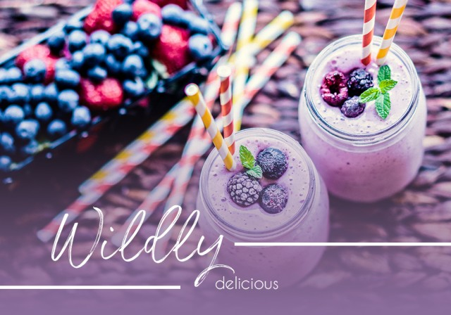 A berry smoothie that's wildly delicious