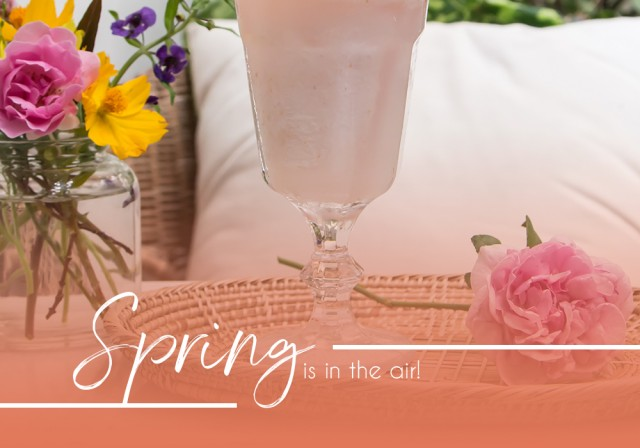 Spring is in the air with this edible flower smoothie!