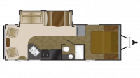 2013 Wilderness 2750RL Floor Plan