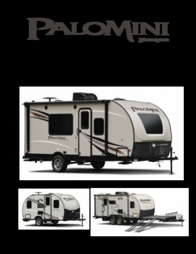 2017 Palomino PaloMini RV Brand Brochure Cover