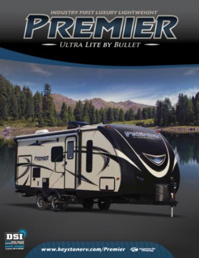 2017 Keystone Premier RV Brand Brochure Cover