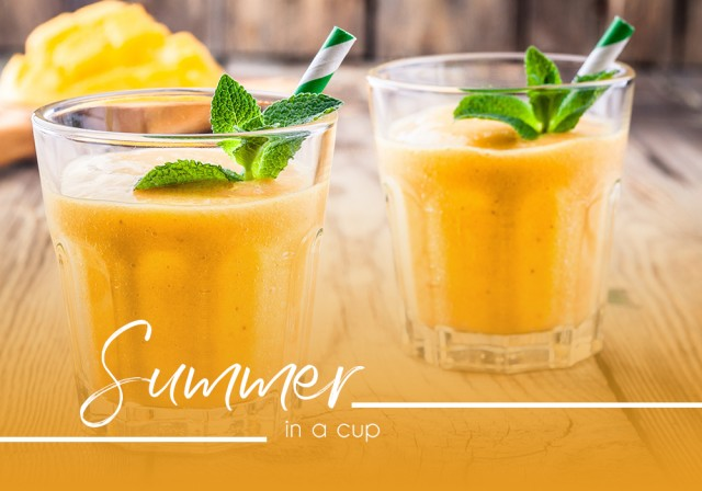 Capture summer in a cup with this tropical smoothie recipe!