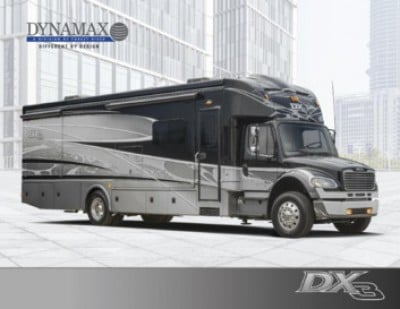 2018 Dynamax Corporation DX3 RV Brand Brochure Cover