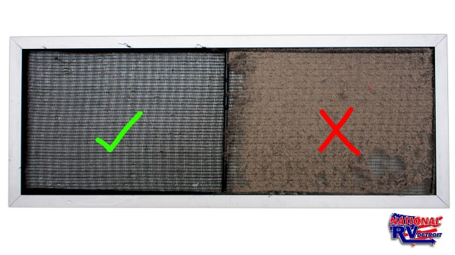Clean and dirty ac unit