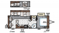 2016 Flagstaff Super Lite 26RLWS Floor Plan