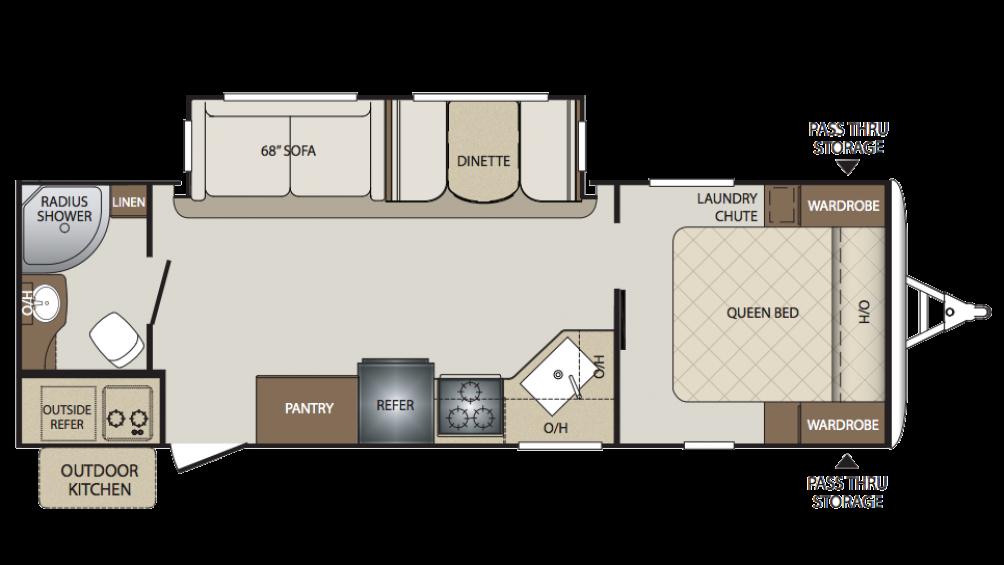 Keystone Bullet Rv Floor Plans: New 2018 Keystone Bullet 261RBS.33767